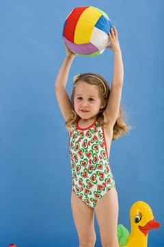 Picture of Watermelon - cross back kids one piece