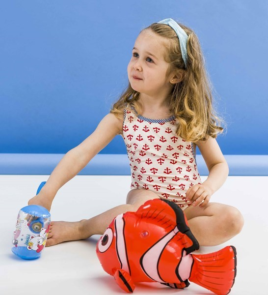 Picture of Marinha - cross back kids one piece