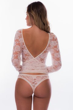Picture of Diane - open back lace crop top