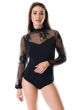 Picture of Alessandra - high neck lace bodysuit