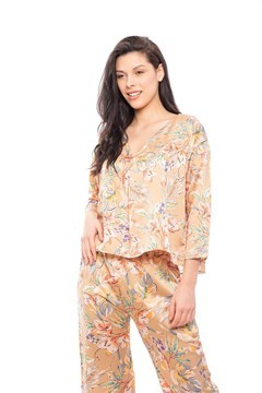 Imagen de Magnolia - Pijama largo de seda